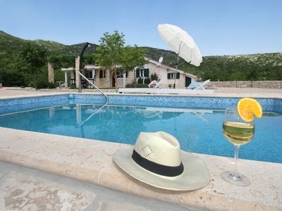 Photo for Your own private getaway near Makarska,heated pool,quiet  location