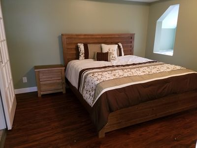 Bedroom off the Great Room, charming and spacious