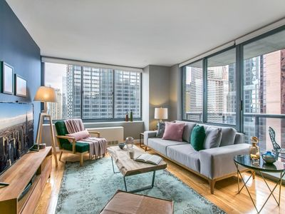 Photo for Bright 1BR near Times Sq w/ Indoor pool, Doorman by Blueground