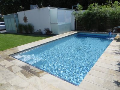 Photo for modern bungalow with terrace and direct access to the pool