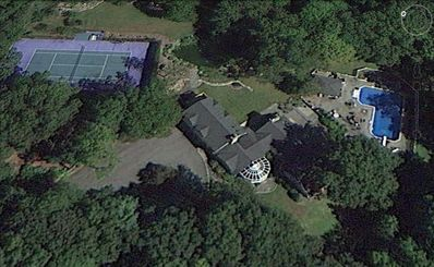 Aerial View of the house and property