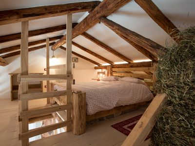 Photo for romantic hay farmhouse chalet resting on hay beds with wifi sauna garden