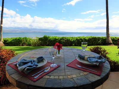 Photo for Ground-floor, Oceanfront Maui Gem!  Private,  Romantic and Conveniently Located!