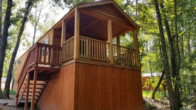 Photo for Pine Cone: Sleeps 5, 1 BD, 1 Bath, Forest View, Wifi, Pet Friendly
