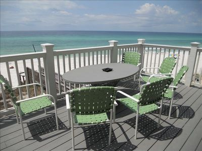View of the beautiful Gulf of Mexico from second floor deck of Double Paradise