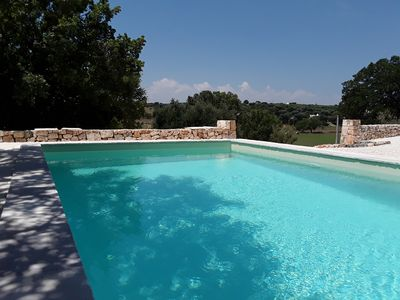 Photo for Villa SERENA, stone Tufo, swimming pool, panoramic view, 15 'from the sea