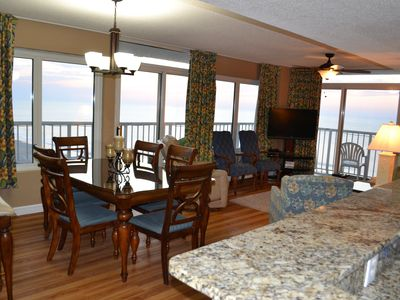 Photo for Upgraded Oceanfront Condo with Spectacular Views and Wrap Balcony