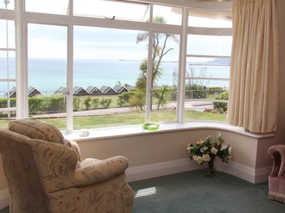Photo for Weymouth Ground Floor Apt with parking enjoying magnificent panoramic sea views.