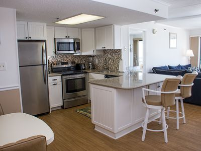 Photo for Beautiful Oceanfront (Side) Condo - Just 8 Blocks from the Boardwalk!