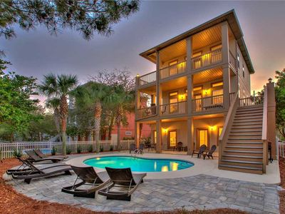 Photo for Beyond The Sea - 30A! Gulf View! Heated Private Pool! Steps to the Beach!