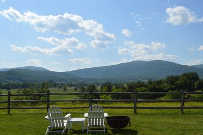 Imagine sitting here! View from High Fields Farm front yard