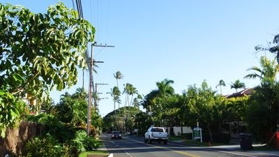 View of the street where house is located