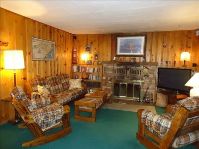 Photo for All wood 1960 cabin--charming, quiet, isolated:  but minutes from everything
