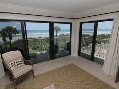 Photo for Palm and Sea Vista, Updated 2/2, Beach and Pool Views from Corner Balcony