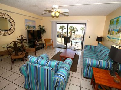 2nd Floor ocean front middle of the pools. Best located condo in the Summit