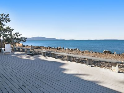 Photo for Dog-friendly oceanfront getaway steps away from the water!