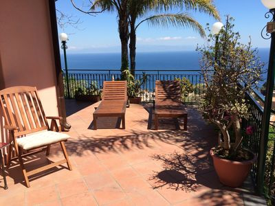 Photo for CASA LILI Sea View Terrace + Garden Taormina