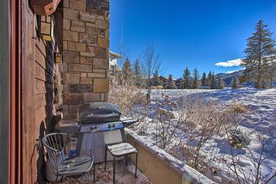 Grill a delicious dinner as you overlook the mountains from the private patio.
