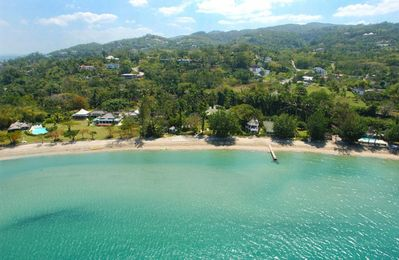 Photo for TRANQUILITY ON THE BEACH JAMAICA - Luxury 7 Bed Beachfront Villa in Montego Bay - STAFF INCLUDED