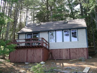 cottage front with deck (20 ft. from water)