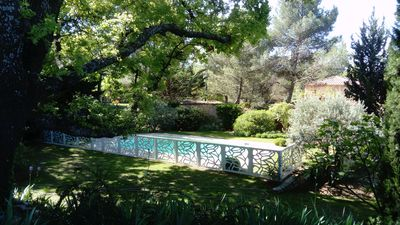 Photo for Charming villa immersed in the greenery, very quiet 100 m from the village center.