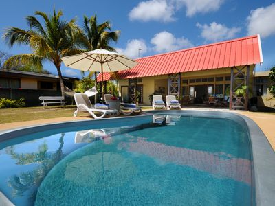 Photo for The villa is on the beach side at Cap Malheureux, the dream spot of Mauritius.