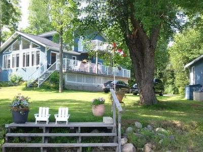 Photo for Family Friendly 4 bedroom Pickerel Lake Waterfront Cottage four seasons retreat!