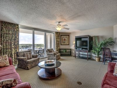 Photo for Large Elegant Condo with Waterway View, Onsite Day Spa | Yacht Club Villas - 1-1004