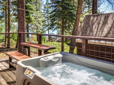Photo for NEW LISTING! Lake Views cabin w/ private hot tub, & fireplace - beach nearby!