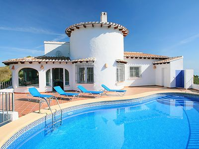 Photo for 4 bedroom Villa, sleeps 8 in Benimeli with Pool, Air Con and WiFi