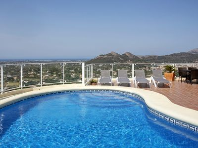 Photo for Denia -  Stunning 4 bedroomed property with sea views.  Sleeps 8.
