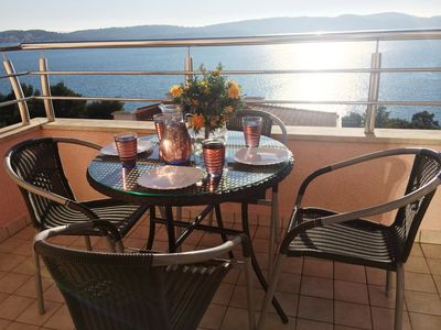 Photo for 77 sq m Apt, Great Sea Views, 200m to Beach, 10 Minute Walk to Trogir Old Town