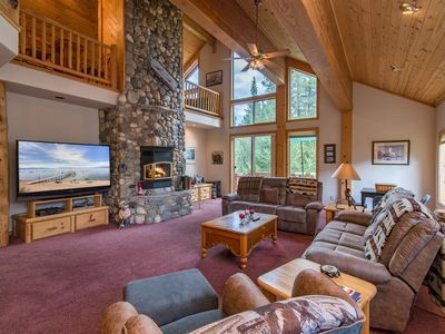 Photo for Tahoe Donner 5BR - Pool, 3 Decks, 2 Fire Pits, BBQ, Pool Table, Golf