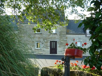 Photo for Typical cottage near Lake Guerlédan -Typical cottage in Brittany