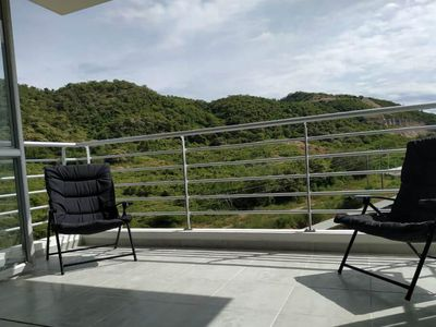 Photo for 3 bedroom apartment with pool and balcony to the mountains in exclusive area!