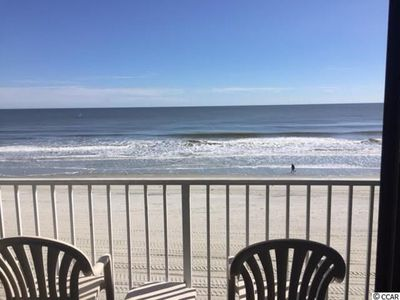View Off Of The Balcony of the nicest beach in the Myrtle Beach area