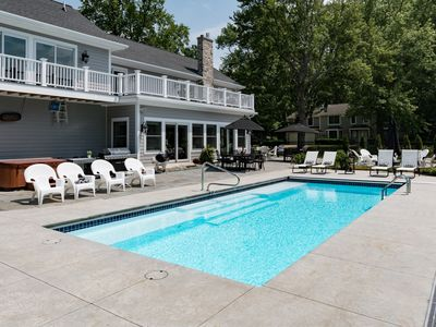 Photo for Private Pool, Hot Tub & Fire Pit! Bicycles, Baby Essentials. Walk to Beach & Kids Corner Park