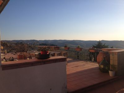 Photo for A beautiful terrace in the heart of Chianti