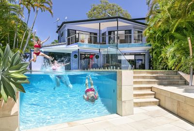 Jump right in!  12.5 metres of magnesium mineral water pool!