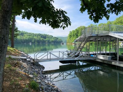 Photo for PRIME WEEK OPEN June 21-28, 2019 deep water low traffic cove on Norris Lake!