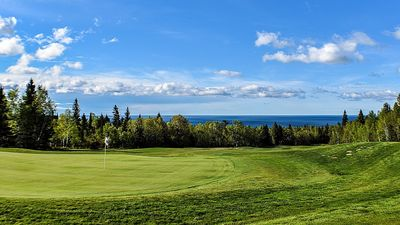 View of Lake Superior from the golf course.