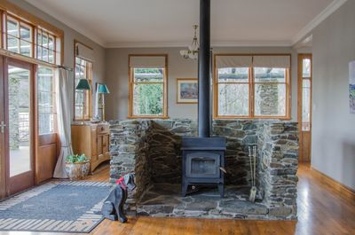 The stone surroung wood burner will quickly become a feature of your stay.