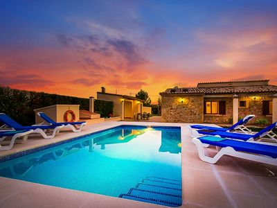 Photo for Can Tofol - This spacious villa includes a private pool, WI-FI & A/C