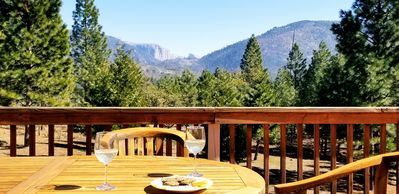 Photo for Views of Half Dome and El Capitan from the deck! Reservation allows park entry