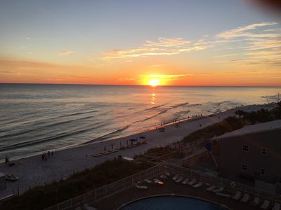 Sunset off our balcony - PERFECT view every night!!
