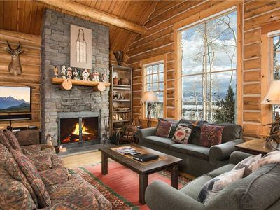 Photo for RMR: Luxury 3 BR Cabin with A/C + Walk to Skiing + Free Activities!
