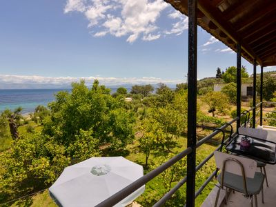 Photo for Corfu Beach house with garden,parking, sea view