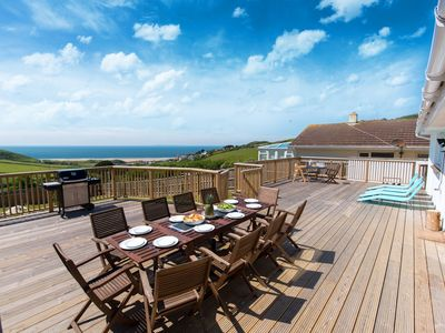 Photo for Luxury family friendly holiday home overlooking Woolacombe Beach. Sleeps up to 10 in 5 bedrooms.