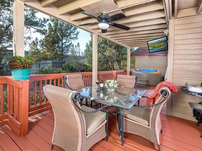 Payson Retreat Large Patio With Wooded Vie VRBO - Out on the patio