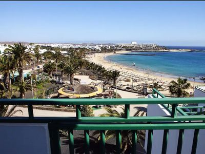 Photo for Central Apartment a Few Steps from the Beach with Pool, Balcony, Garden & Wi-Fi